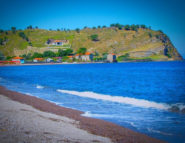 Beach Beach Photography Life Is A Beach Waves Waves Rolling In Village Seaside Village Seashore Lesvos Greek Islands Island Shades Of Blue Blue Wave Blue Sea Blues Summer Memories 🌄 Summer Views Gravel Beach The Great Outdoors - 2016 EyeEm Awards