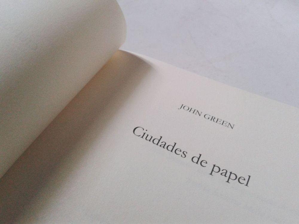 Paper Towns CiudadesDePapel Ciudades De Papel John Green