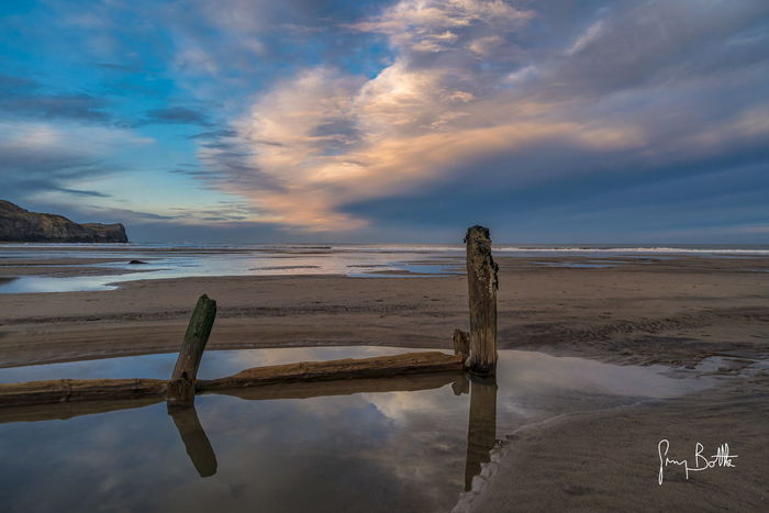 Sandsend at sunset . Beach North Yorkshire Nature Nature_collection Nature Photography Sunset Cloud - Sky Landscape Low Tide