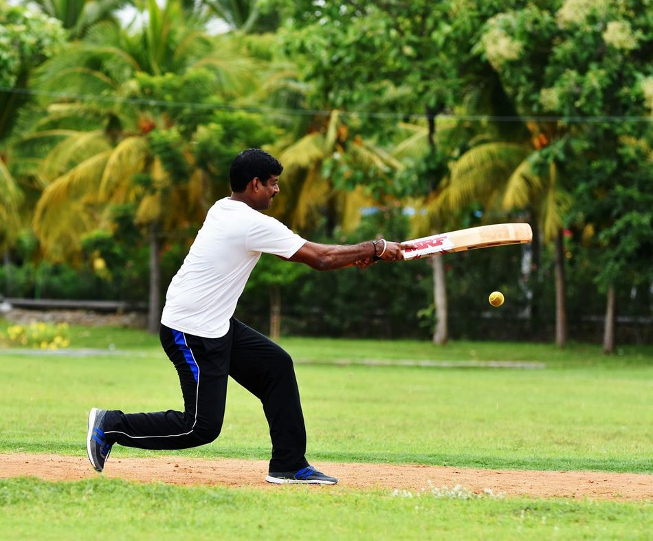 Full Length One Person Grass People Sport Outdoors Adults Only Motion Playing One Man Only Nature Adult Taking A Shot - Sport Day Young Adult Golf Club Crickets Cricketer Batsman Games Indian Namaste ❤ GetbetterwithAlex EyeEm Best Shots Teamwork