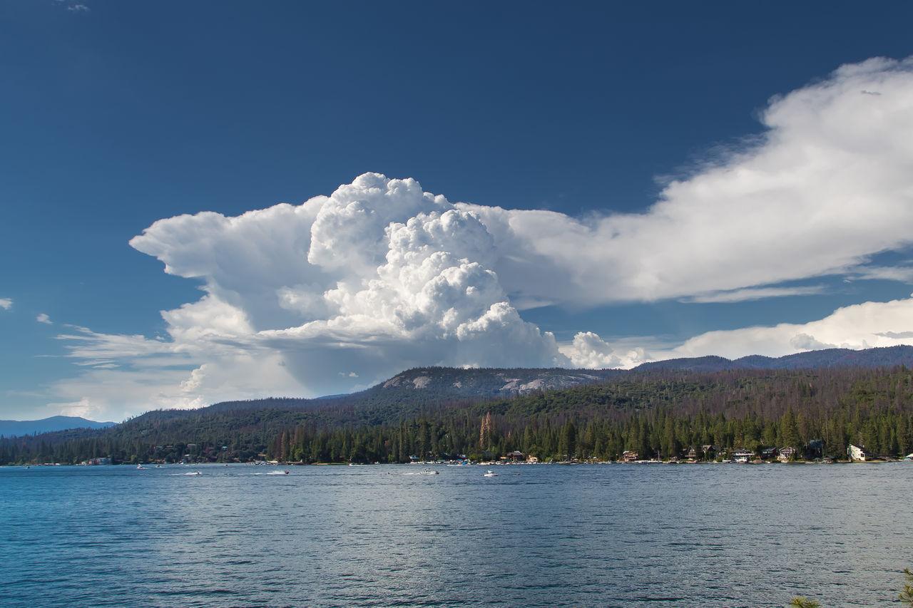 Bass Lake, California Beauty In Nature Blue Blue Sky Cloud - Sky Clouds And Sky Cumulonimbus Lake Mountain Mountain Lake Sky Thunderstorm