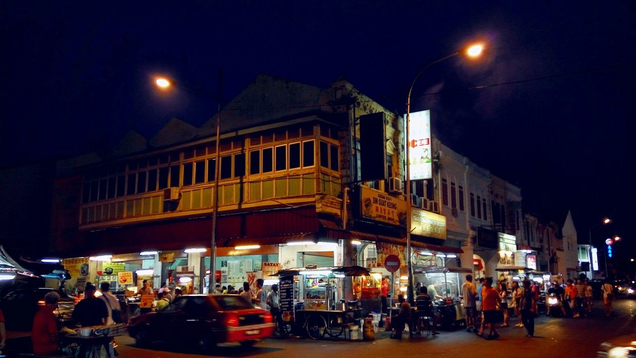 Georgetown Penang Georgetownunescoworld Nightphotography Night Lights Night View Nightlife Nightshot Night Out Enjoying Life People Exploration Streetphotography Life In Colors Hello World Penangstreethawkerfood Makanmakan First Eyeem Photo Street Hawker