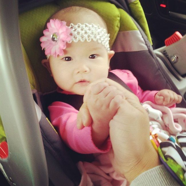 Baby wants to arm wrestle. Cute Baby Shesstrongerthanme .