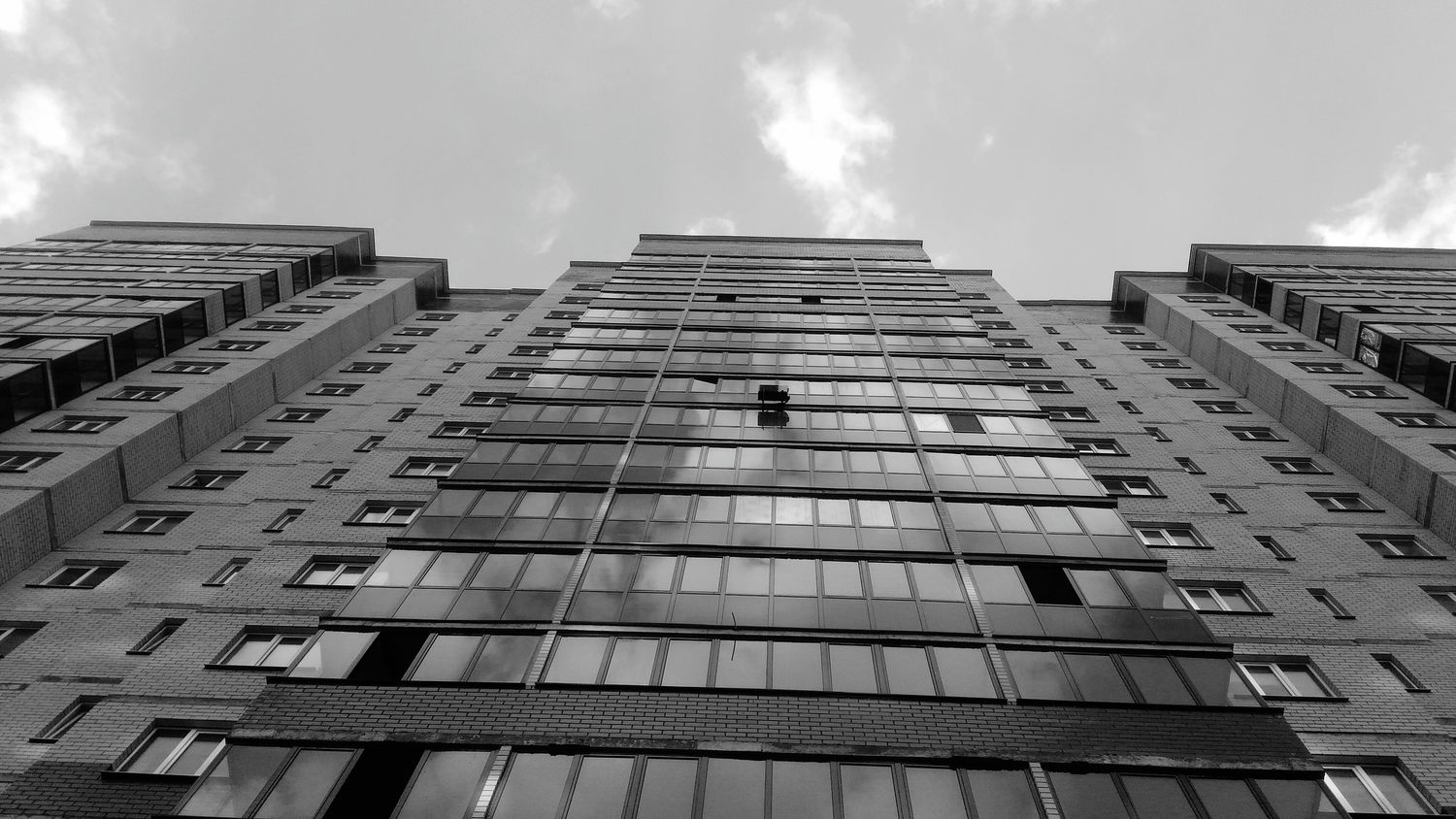 Building Exterior Architecture City Sky Window Built Structure Outdoors No People Day Skyscraper Grey White Black