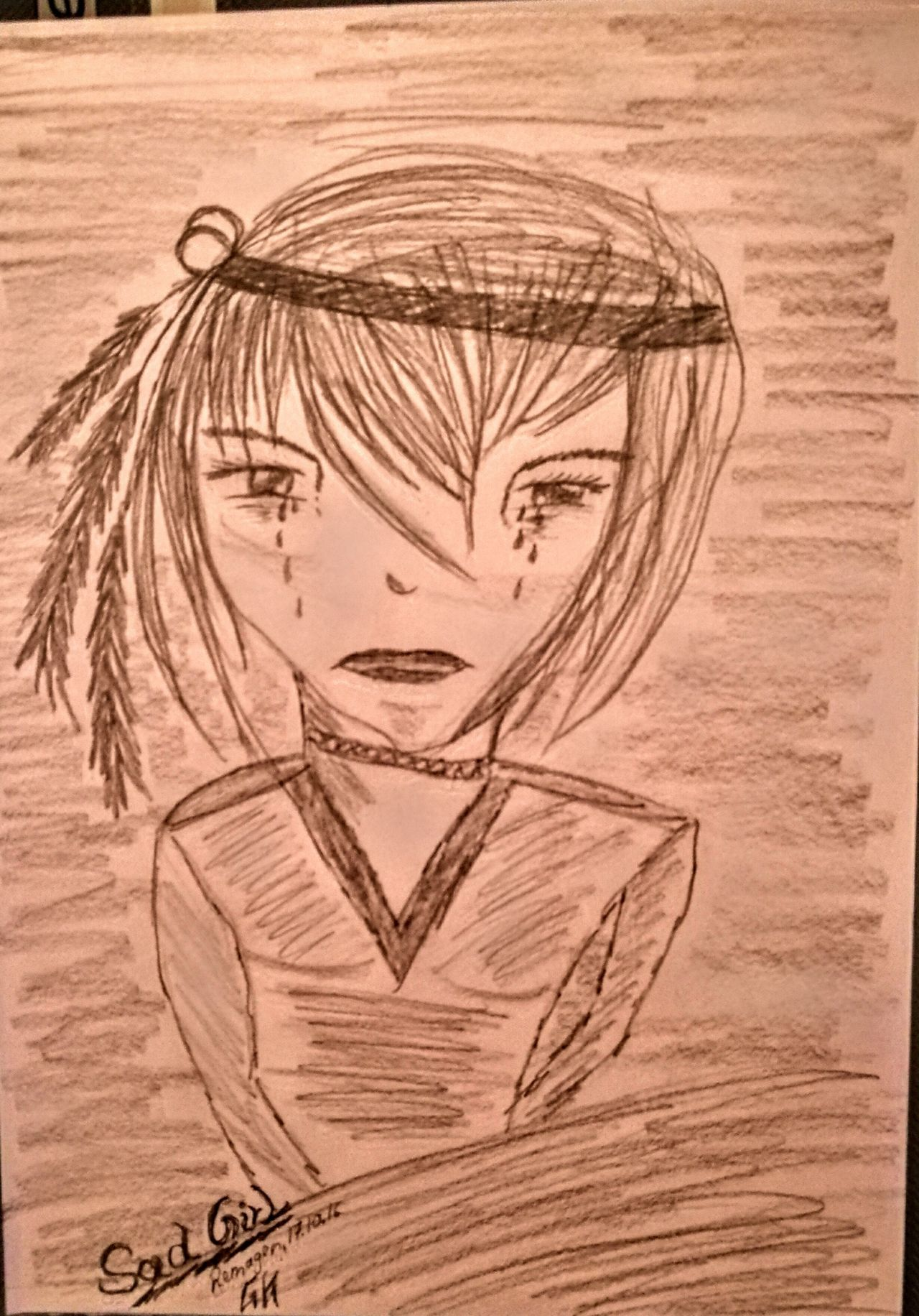 """Today is Day of drawing....a new Manga Girl....""""Sad Girl""""....enjoy... Check This Out Relaxing Art, Drawing, Creativity Enjoying Life Creativity Pivotal Ideas Drawing Originalpicture Individual Picture Manga Mangagirl Sadness My Drawing"""