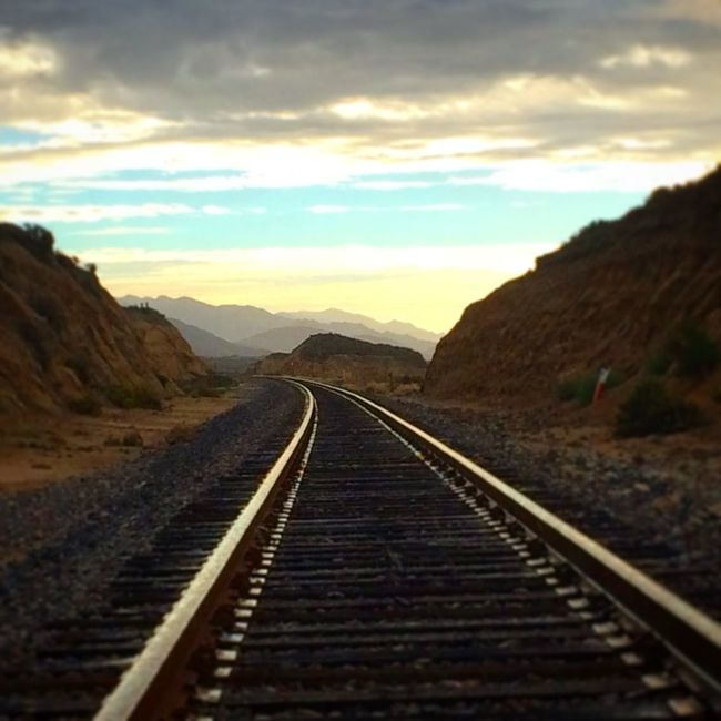 Coastal route. Ocean Gaviotacoast Pacific Ocean California Outdoors Railway Railroad Train