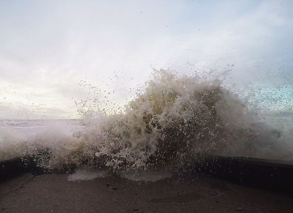 Close-up Drop No People Outdoors Power In Nature Sea Sky Splashing Waves Water Waves Crashing Wet