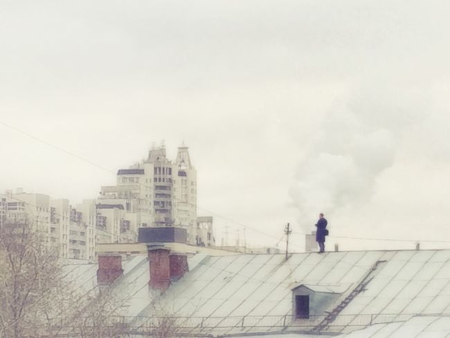 Looks like someone's lost his way... A man on the Roof Cityscapes Bad Quality Accidental Shot The Secret Spaces TCPM Break The Mold Breathing Space