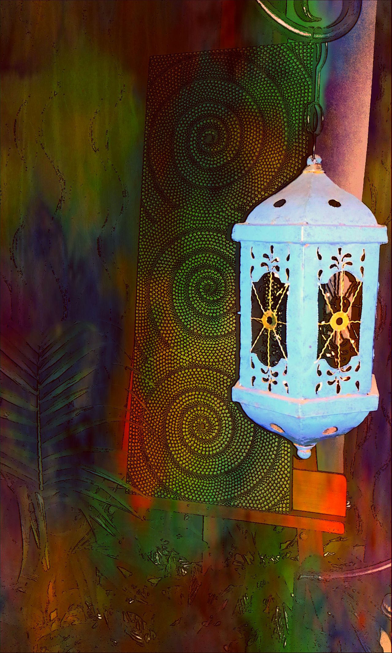 Abstract Lantern Playing With Colours
