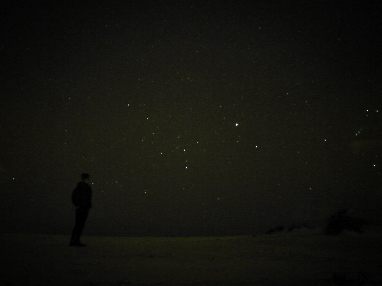 Full Length One Man Only Night Only Men Silhouette One Person Nature Men Outdoors Sky Astronomy Stars Beach