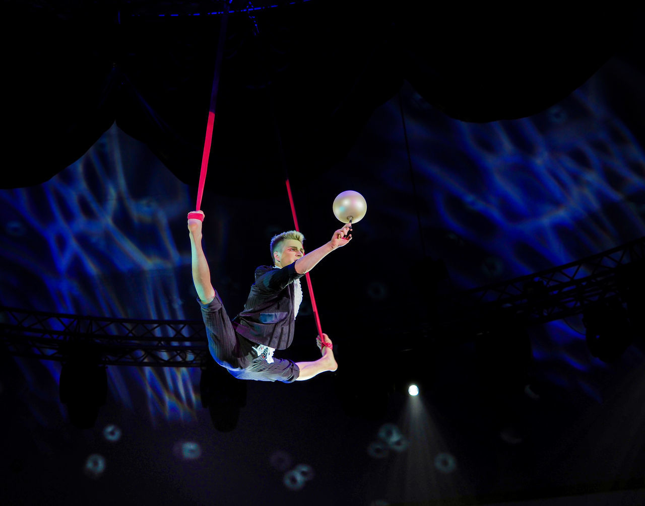 Russia, Moscow, circus, Russian circus, Circus, juggler, juggler in the air Adult Adults Only Astronomy Circus Indoors  Juggler In The Air Moscow Night One Man Only One Person People Russia Russian Circus
