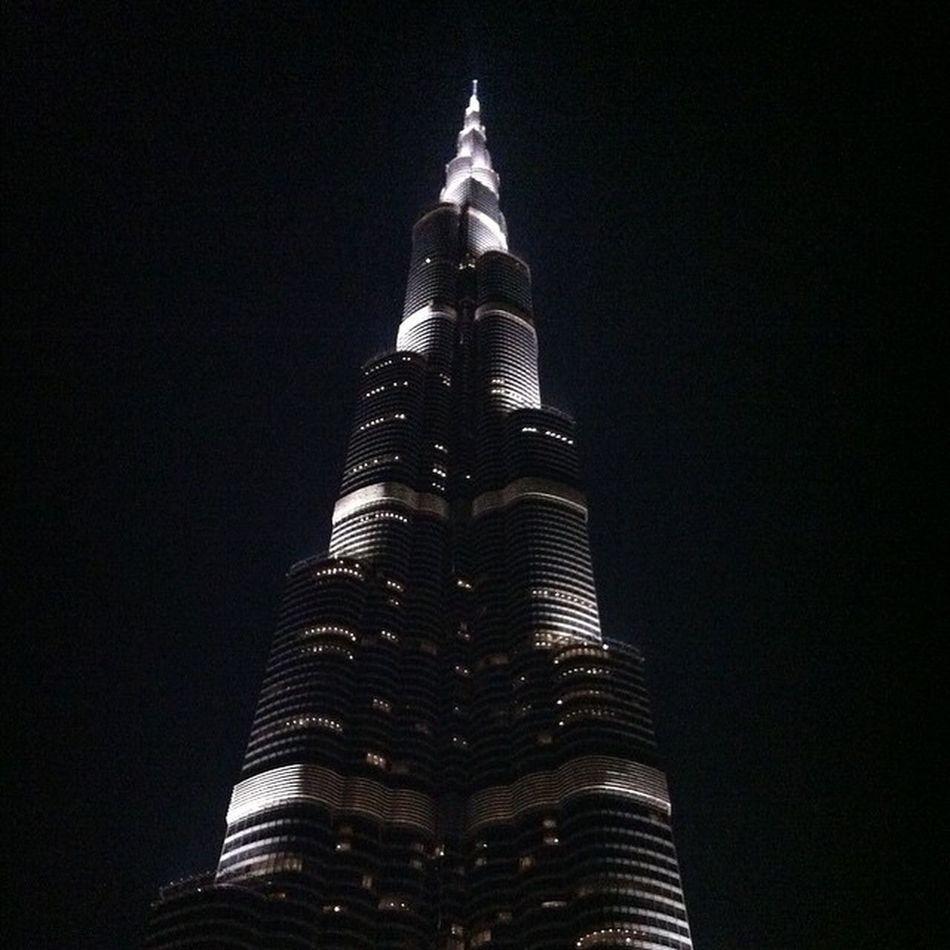 Dubai UAE Burjkalifa Photo tallest blackandwhite vacation holiday night nightlife view spectacular One night at the Burj.