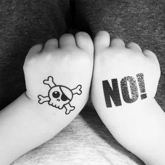Hands Black And White Tattoo No! Pirate Resist