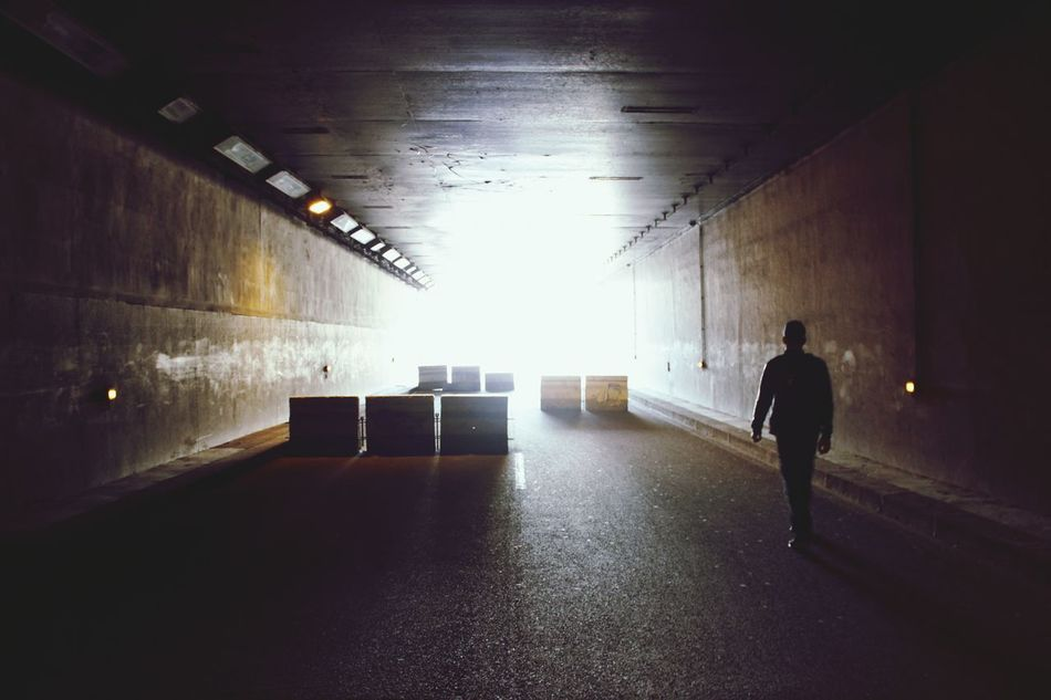 Indoors  Adult Warehouse Silhouette Full Length People Architecture One Man Only Men Only Men One Person Illuminated City Seine Tunnel Street City Day