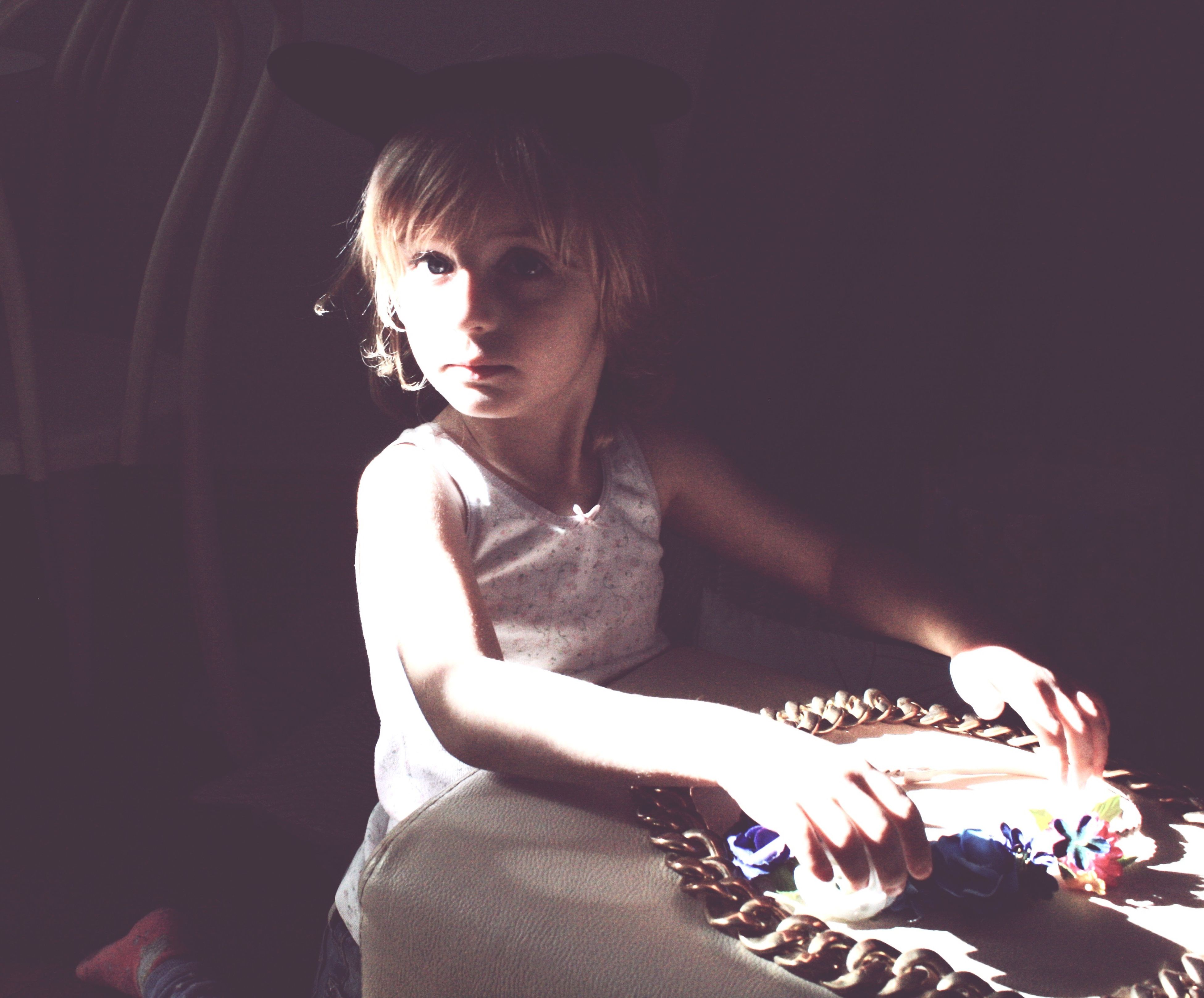 Sunshine #little People Natural Light Portrait #golden Girl
