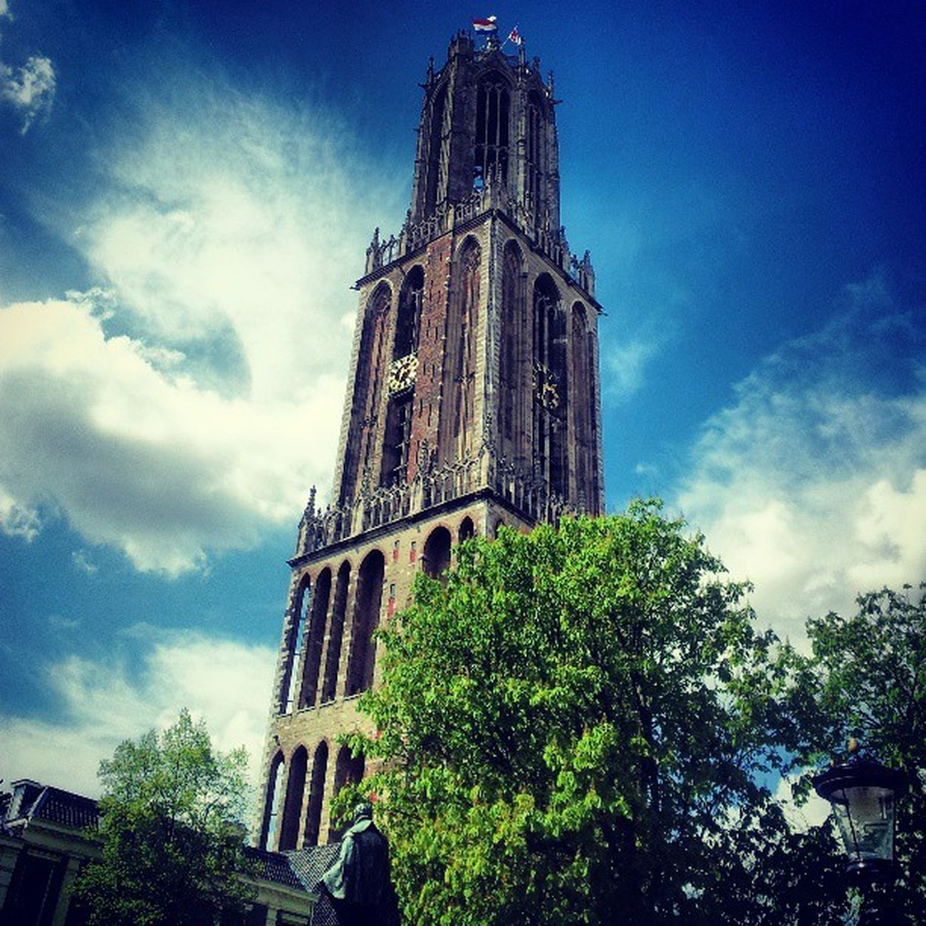 Utrecht Blueskies Summer Cloud Dom Tower Netherlands Instamood Insta_netherlands Expat Tree