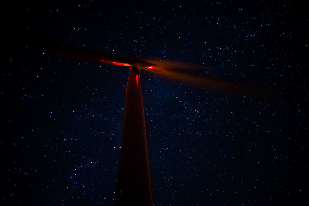 Noite Alternative Energy Astronomy Beauty In Nature Fuel And Power Generation Galaxy Industrial Windmill Low Angle View Night Outdoors Renewable Energy Sky Space Exploration Star - Space Wind Power Wind Turbine Be. Ready. AI Now