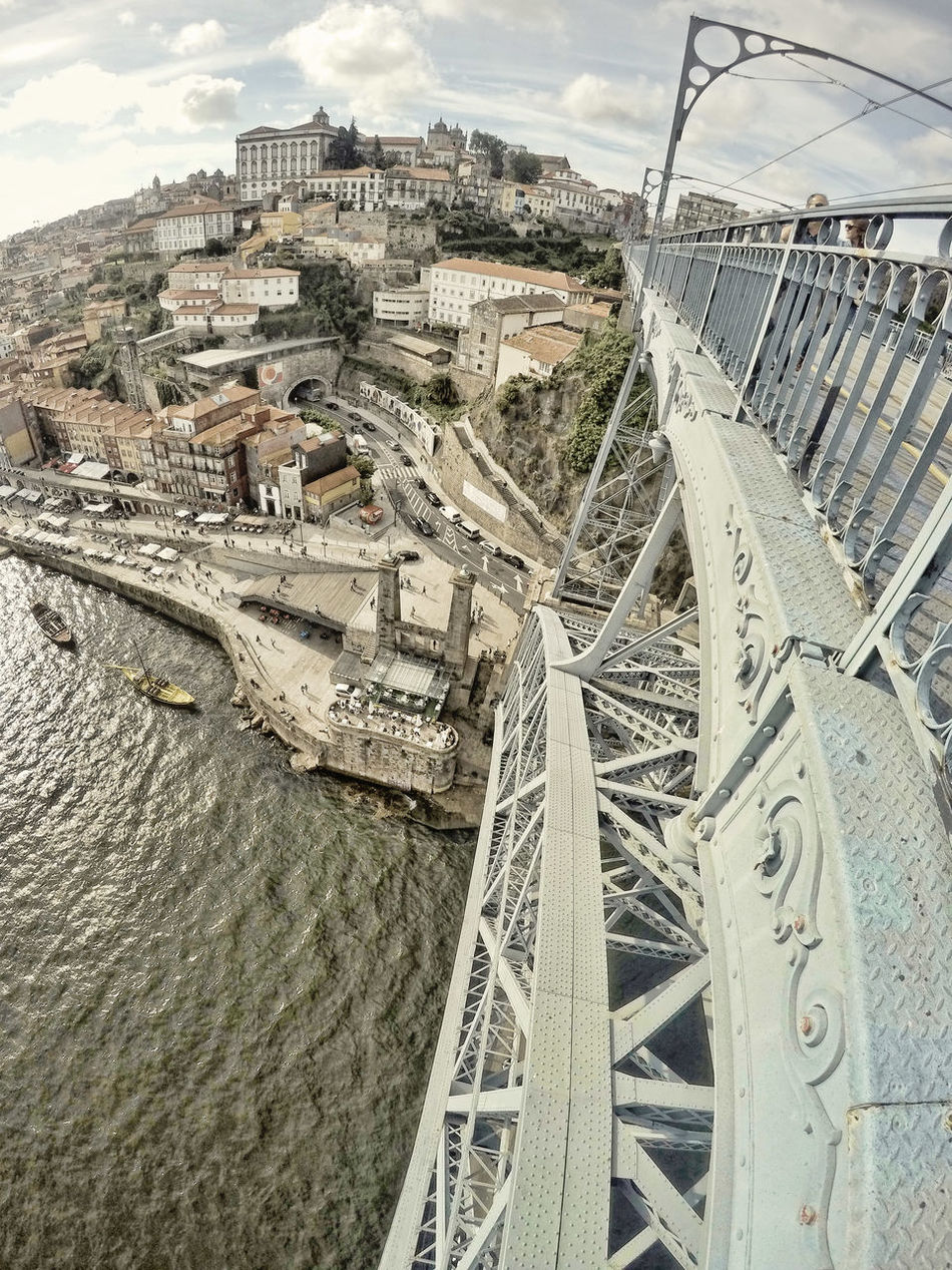 Luis I bridge over Douro river in Porto Architecture Bridge, Built Structure City Day Douro River, Engineering No People Outdoors Porto, Travel Destinations