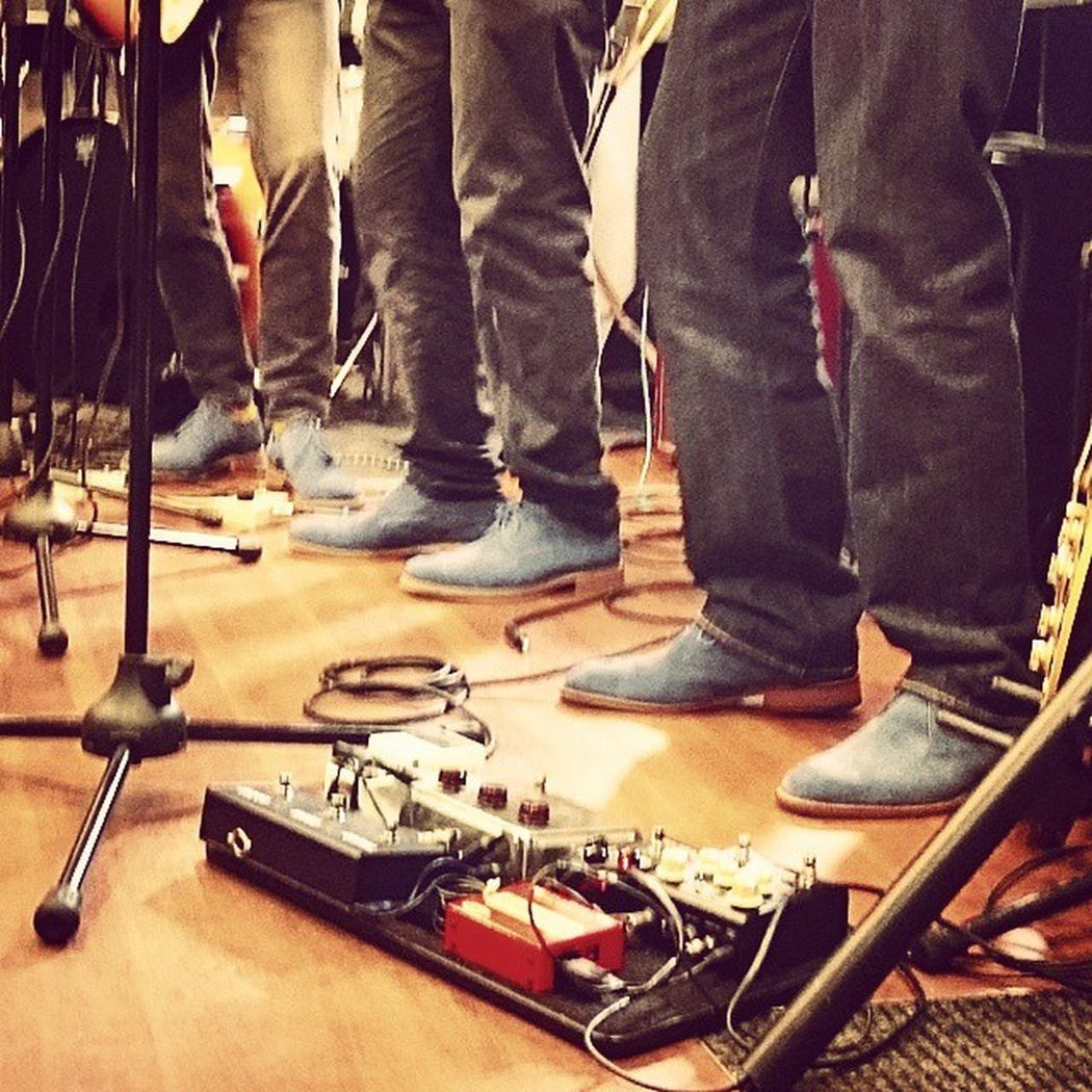 A Band - David Sinclair Four - and their matching Blueshoes playing at David's Music Shop Letchworth Hertfordshire for RecordStoreDay Event Shoes XperiaZ3