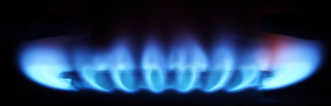 Blue Blue Color Blue Flame Burning Gas Fire Flame Gas Indoors  Night Photography No People Stove Yellow Orange Color Heat