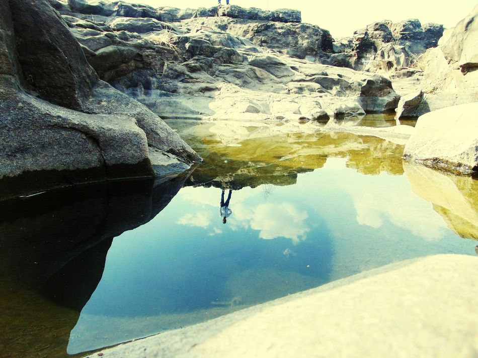 Reflection Water Close-up One Person Outdoors Human Hand Human Body Part Day Backgrounds People Sky Nature Water Reflections Nighoj Potholes India River