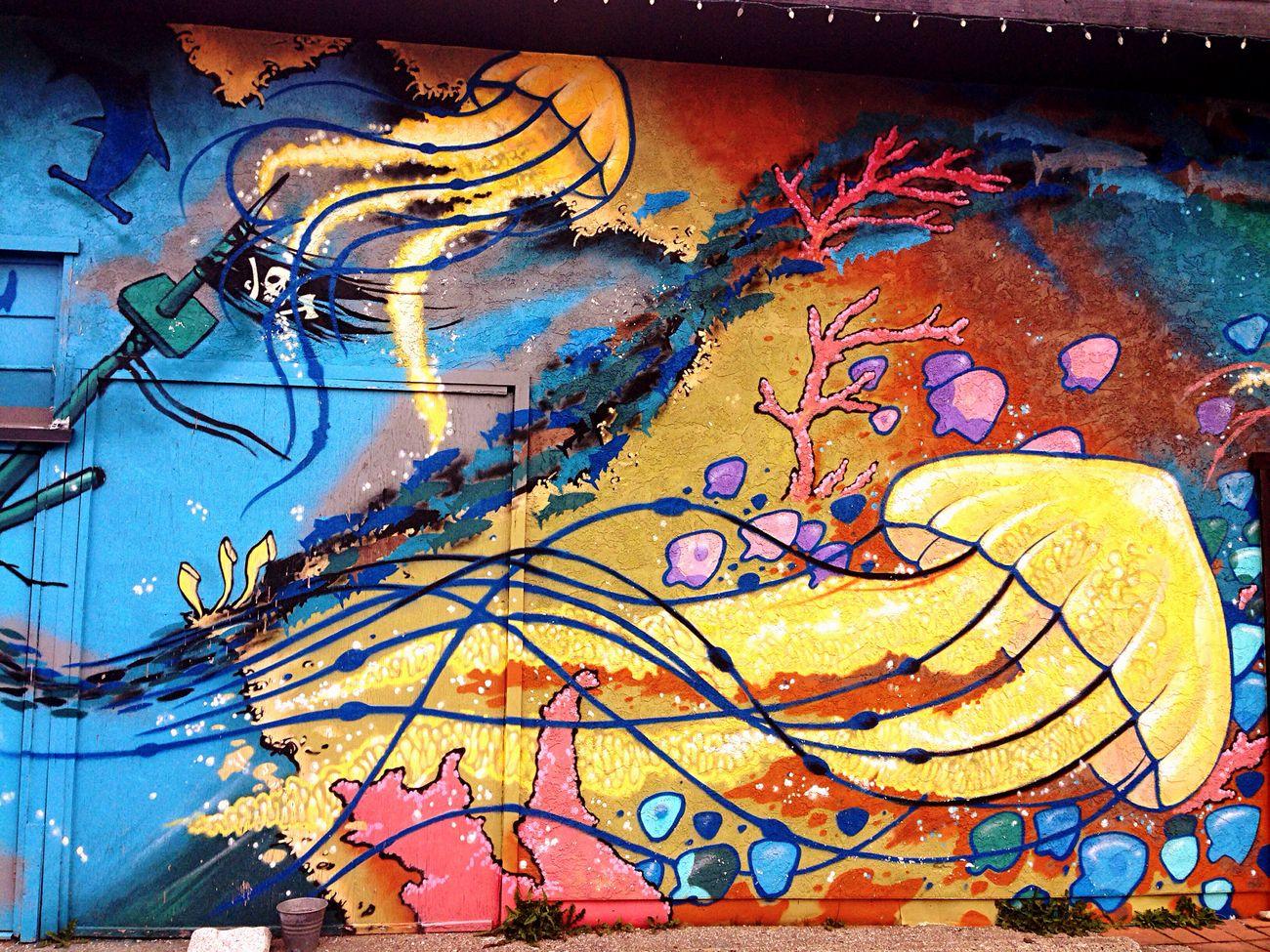 Bright Colors Wall Art Tattoo Artist Oceancitycool Beautiful HalfMoonBay First Eyeem Photo @Gypsyculu