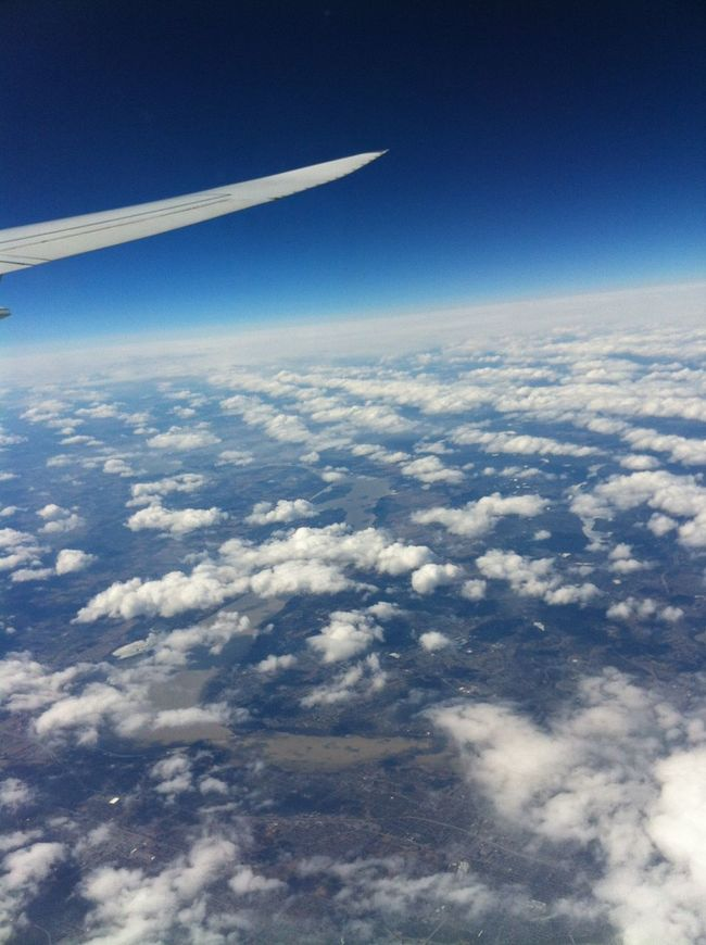 Aircraft Wing Beauty In Nature Blue Cloud - Sky Clouds Flying Journey Landscape Many Clouds Nature Scenics