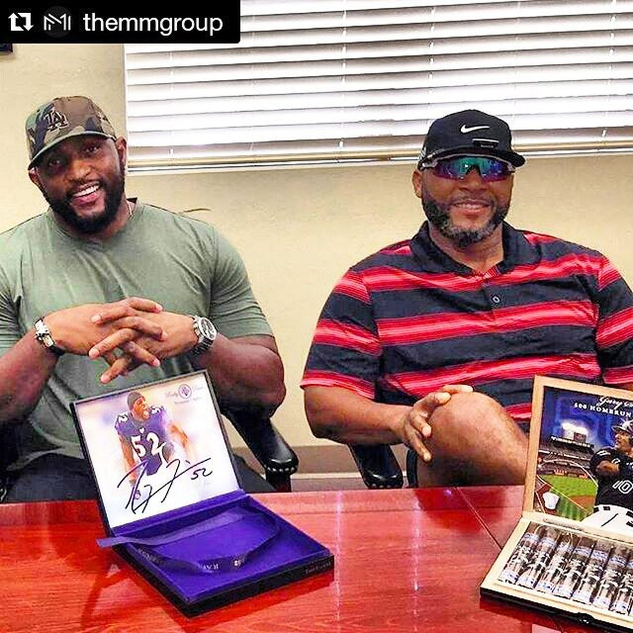 Mogul making...@themmgroup @garysheffield & @the_official_raylewis inking his new deal for his own line of premium cigars.