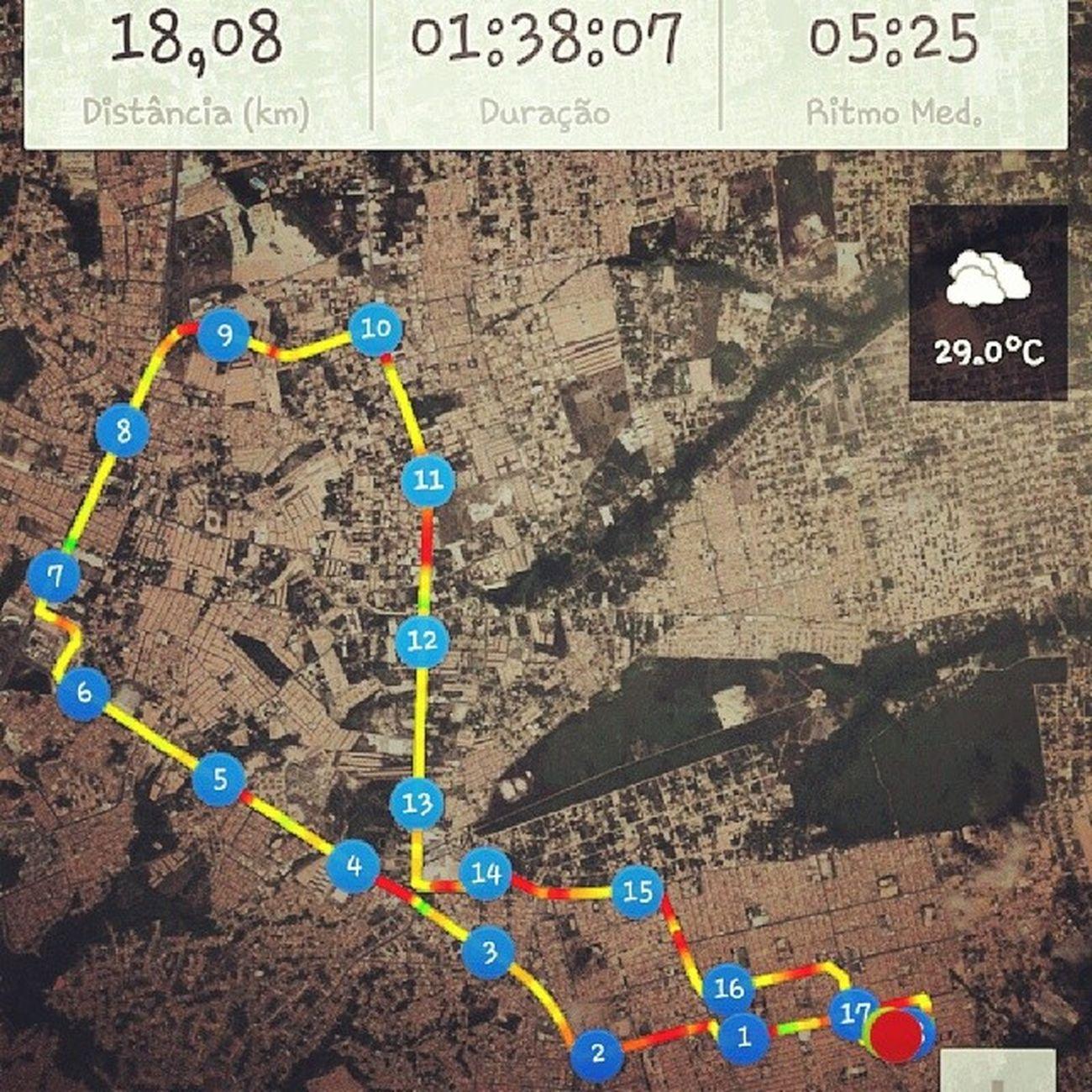 Pedal de hoje pela tarde 18,08 km em 1:38 min. Sucesso. ProjetoFicarTanquinho