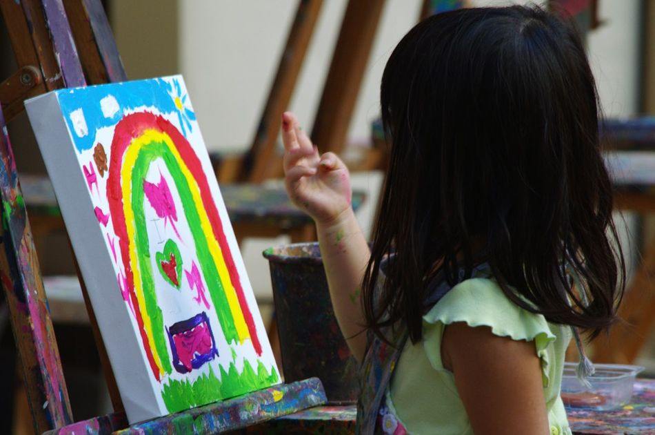 Beautiful stock photos of canvas paintings, Chart Paper, Childhood, Colorful, Concentration