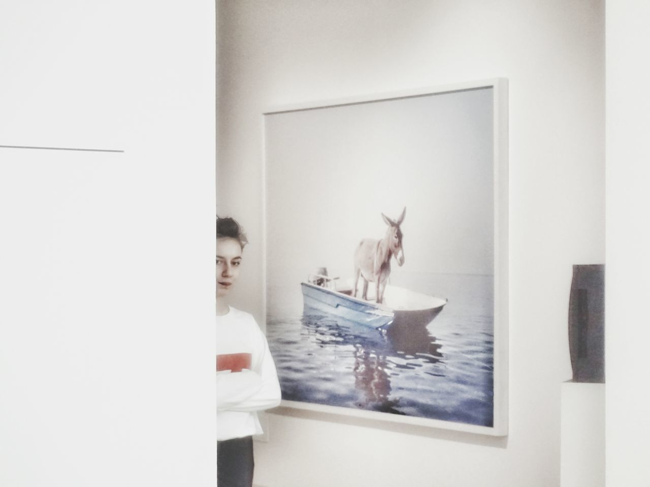 The girl and the donkey | Triennale Milano Girl Photography ArtWork Donkey Well Turned Out From My Point Of View Getting Inspired Showcase: February The Tourist People Watching Pastel Power White Album The Portraitist - 2016 EyeEm Awards EyeEm Italy |
