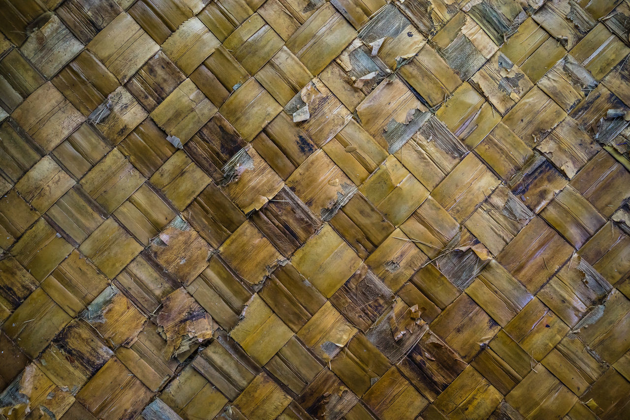 full frame, backgrounds, in a row, pattern, indoors, no people, textured, wood - material, day, close-up, nature