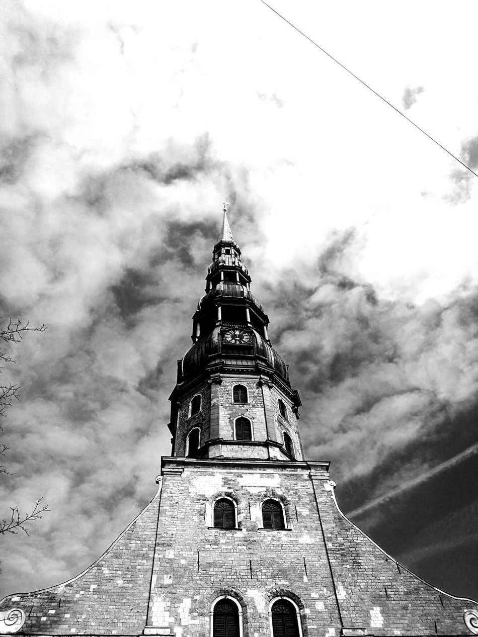 Architecture Church Old Town Riga Religion Building B/W Photography Travel Destinationshistory