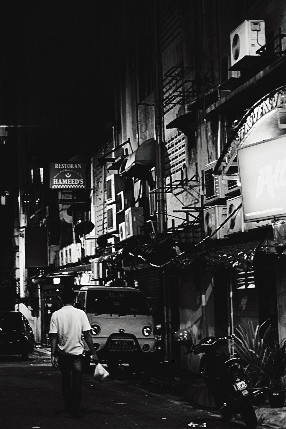 Kuala Lumpur Street City Life Night Illuminated Men City Architecture AirConditioners EOS500d EyeEmNewHere Canon Concrete 2015  The Secret Spaces