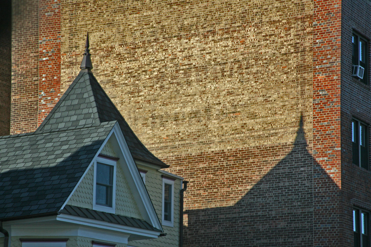 Afternoon Shadow American Architect Architecture Architecture Arcitecture Brick Wall Brick Wall Building Building Exterior Built Structure City Day Exterior Fresh On Eyeem  In The Shadow In The Shadows Low Angle View No People Outdoors Residential Building Residential Structure Shadow Shadow On Brickwa Silhouette Sky