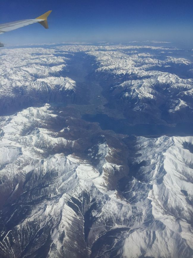 Aerial View Beauty In Nature Blue Cold Temperature Covering Day Idyllic Landscape Majestic Mountain Mountain Range Nature No People Non-urban Scene Outdoors Part Of Scenics Season  Sky Snow Snowcapped Mountain Tranquil Scene Tranquility Weather Winter
