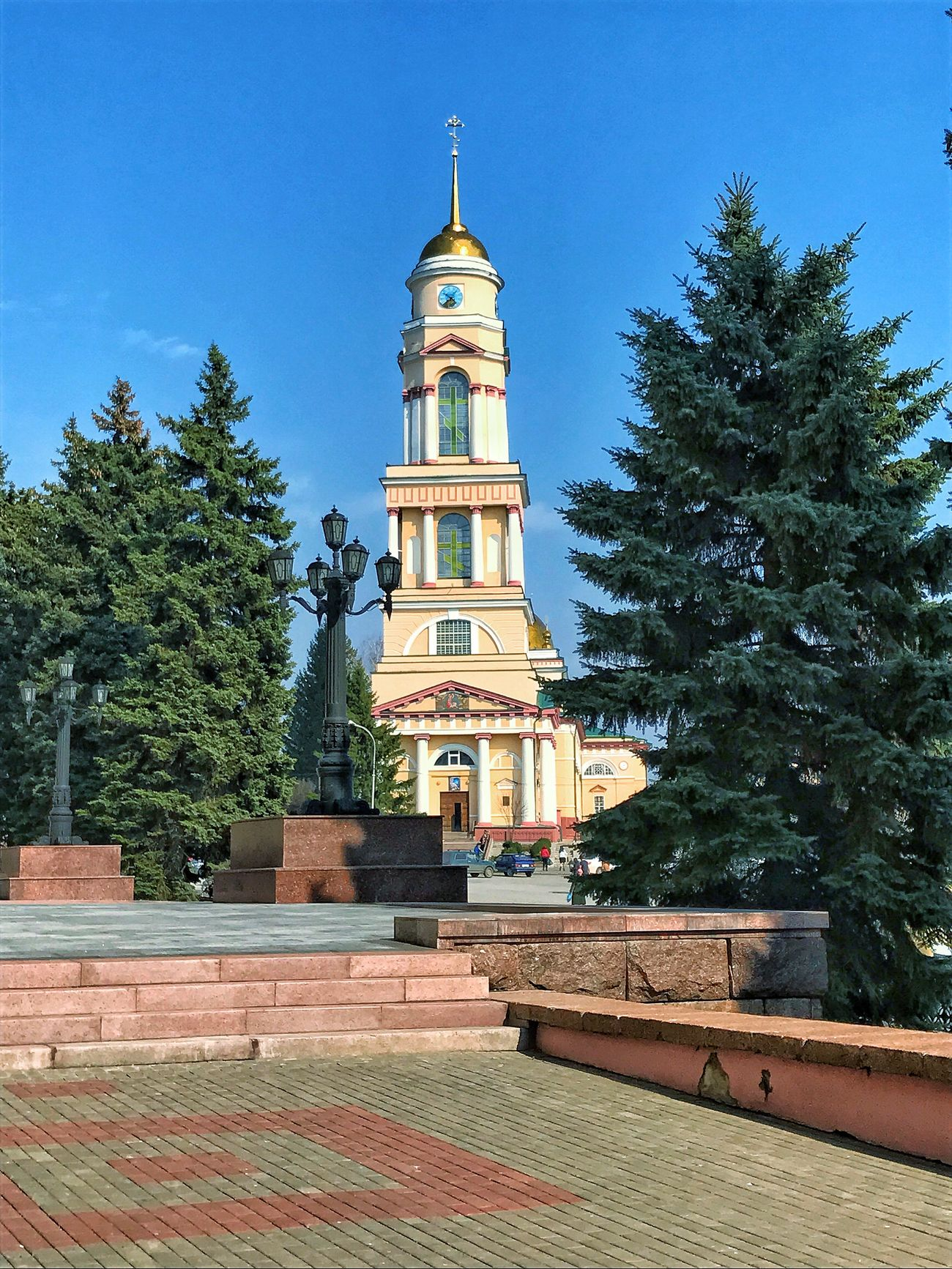 Building Exterior Religion Architecture Built Structure Place Of Worship Spirituality Tree Outdoors Low Angle View No People Travel Destinations Sky Day Statue Cultures липецк Lipetsk