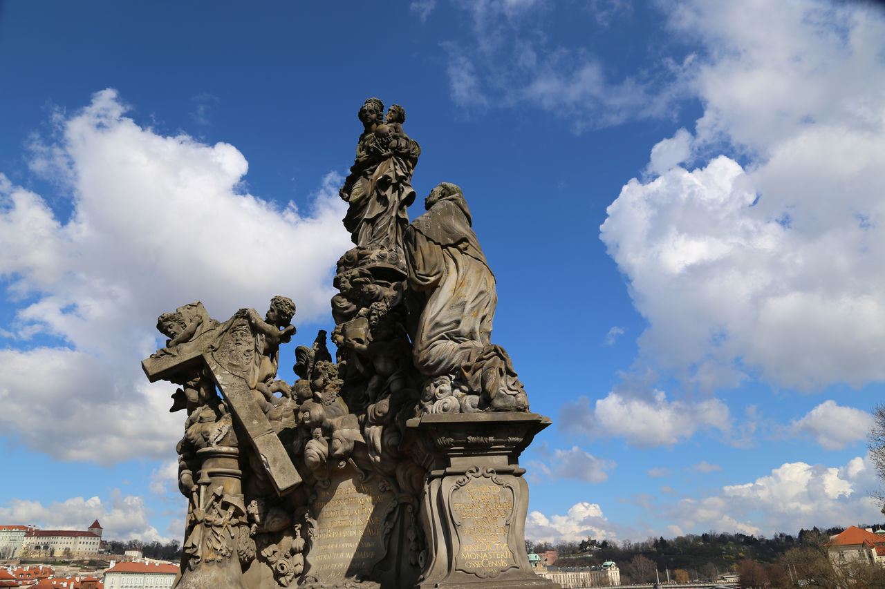 Beautiful stock photos of prague, low angle view, sky, human representation, statue