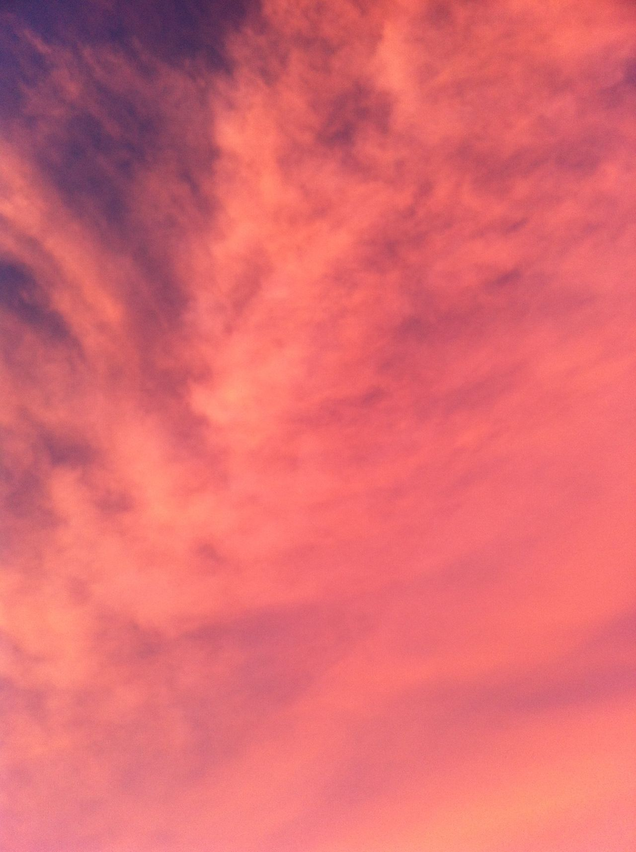 Sunset Cloud Sky Blue & Orange