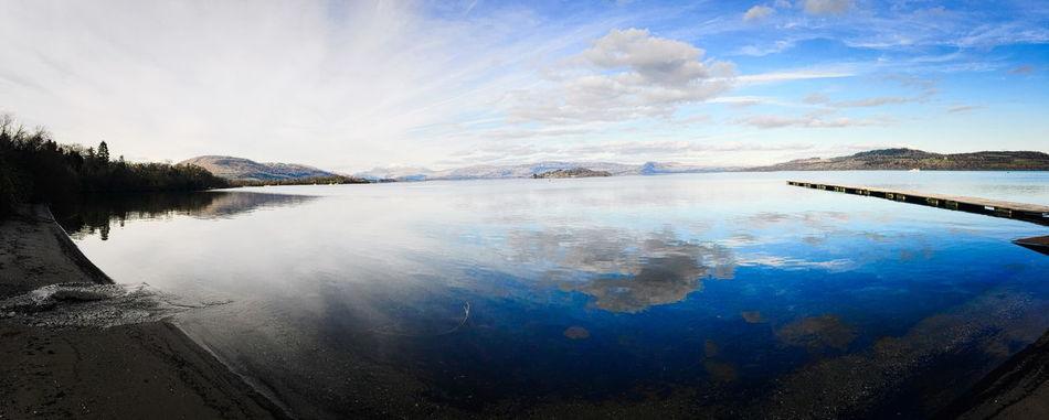 Balloch Blue Skies EyeEm Landscape EyeEm Nature Lover Eyeem Scotland  Great Outdoors Iphonephotography Loch Lomond LochLomond March Showcase Run Away From The Herd Water Reflections