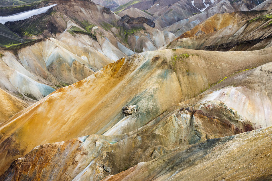 Colourful rhyolite mountains at Landmannalaugar, Fjallabak Nature Reserve, Highland of Iceland, at the edge of Laugahraun lava field formed in an eruption year 1477. Capture The Moment Mountains Iceland Landmannalaugar Landscape Nature_collection Nature Travel Beautifully Organized