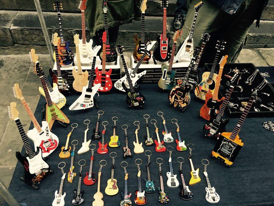 Guitar key chains - Ferrari, Genova Showcase: February Genova Italy Guitar Streetphotography IPhoneography