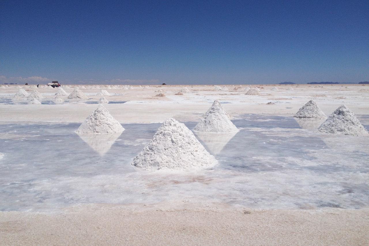 Salar de Uyuni, Bolivia. Photo taken with an iPhone 4s. Beauty In Nature Day Landscape Nature No People Non-urban Scene Outdoors Salt - Mineral Salt Basin Salt Flat Sky Sunlight Tranquil Scene Tranquility