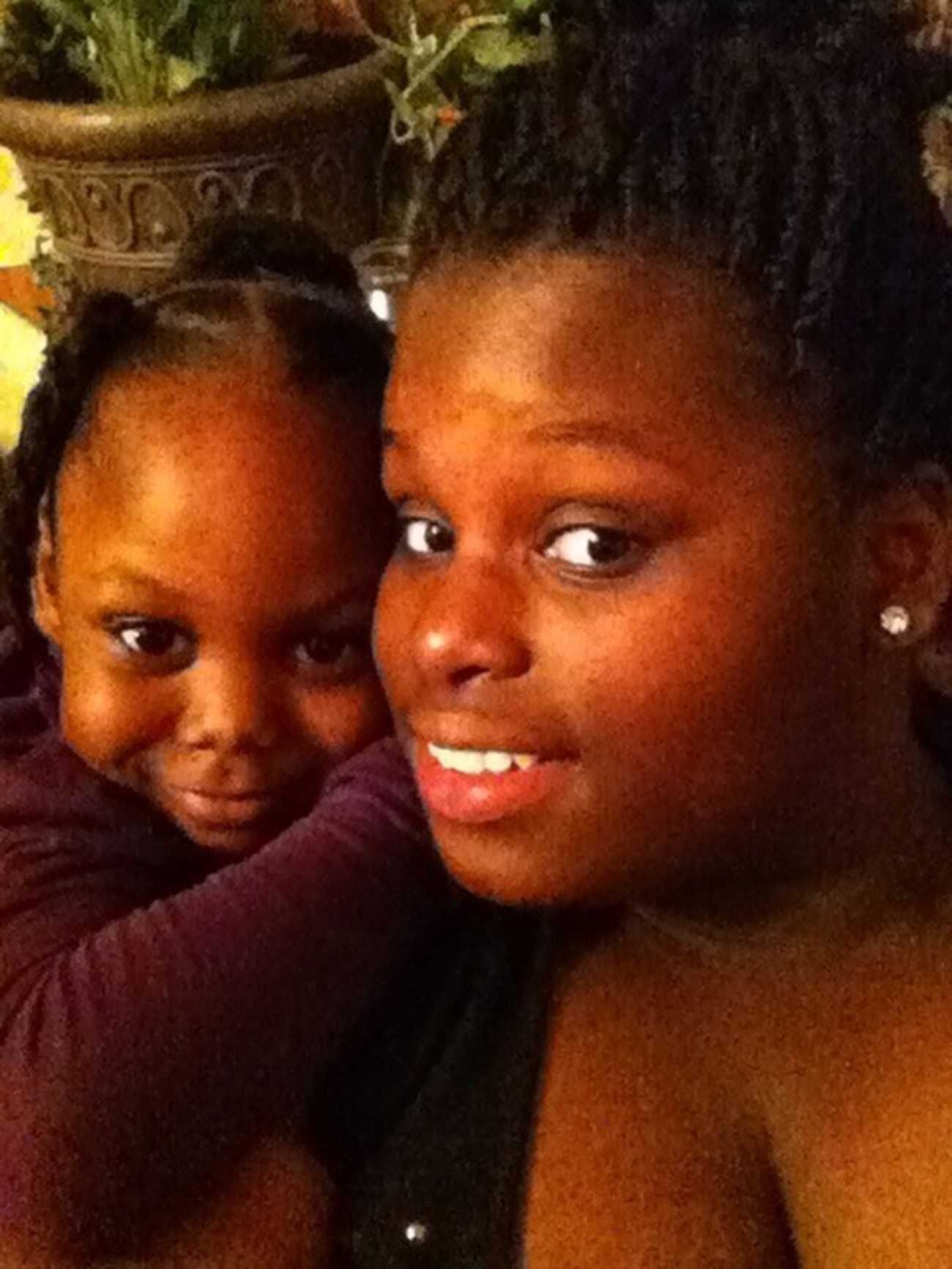 Me & Myy lil niece ! ❤ Her , Da sweeties out of dem all .