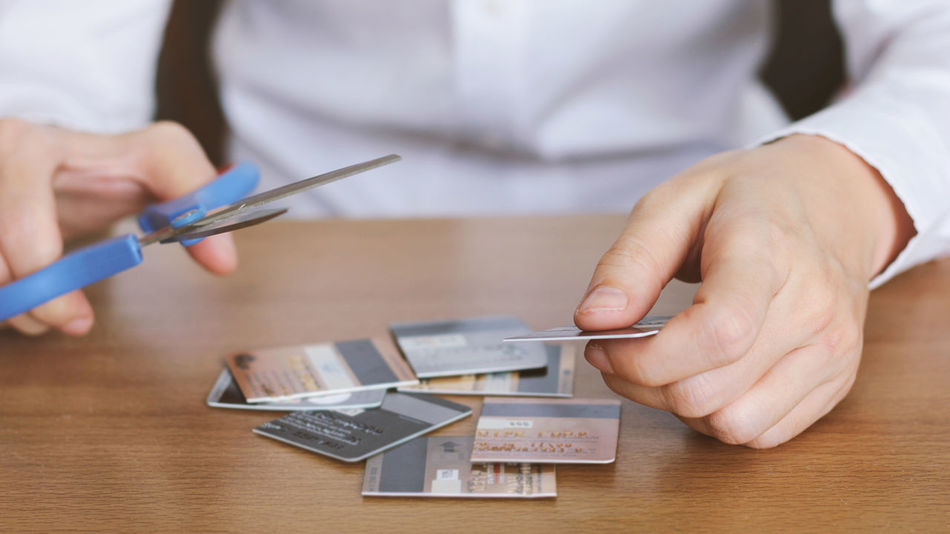 Beautiful stock photos of geld, Businessman, Close-Up, Credit Card, Cutting
