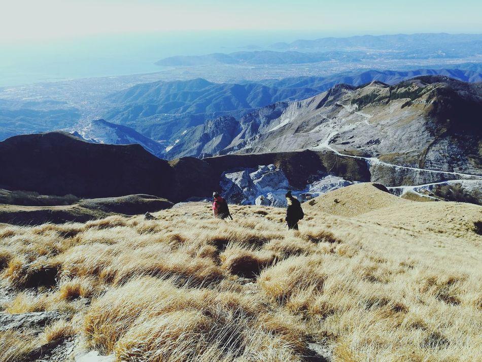 Mountain Hiking Nature Mountain Range Landscape Sky Leisure Activity Outdoors Beauty In Nature Scenics EyeEm Best Shots Apuane Mountains