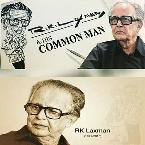 "You Will Be Remembered, Always... Rasipuram Krishnaswami Iyer Laxman 24 October 1921- 26 January 2015. ""I Drew objects that caught my eye outside the window of my room – the dry twigs, leaves and lizard-like creatures crawling about, the servant chopping firewood and, of course, and number of crows in various postures on the rooftops of the buildings opposite."" — R. K. Laxman. Indian Cartoonist Commanman Yousaidit Thecommonman RKL RKLaxman Instapic Picoftheday Quotes"