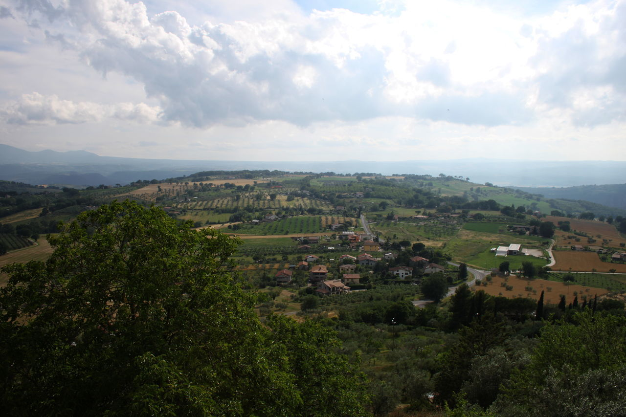 Cloud Cloud - Sky Cloudy Day Elevated View Hill Horizon Over Land Italy Landscape Lugnano In Teverina Outdoors Rural Scene Umbria