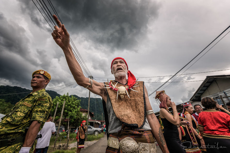 Celebration Cloudy Gawai K Kampung Ta Kuching Leader Person Villager Head