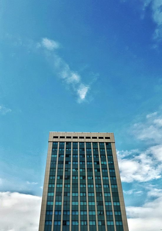 Architecture Building Exterior Built Structure Skyscraper Sky Day Outdoors Blue Water Cloud - Sky Modern No People City Clouds Collection Cloud And Sky PRISHTINA Outdoor Photography Vscokosova VSCO Nature Urban Skyline Cityscape City Architecture Freshness The Architect - 2017 EyeEm Awards